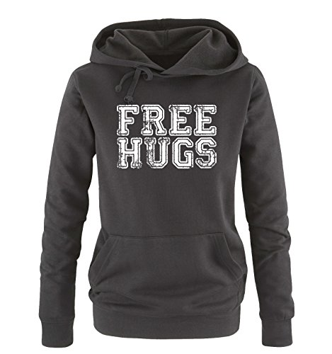 Hoodie Hoodie Hoodie cappuccio vari nero taglia XL XL XL XL sweater Shirts S Donna colori HUGS bianco Comedy FREE U1qTR1