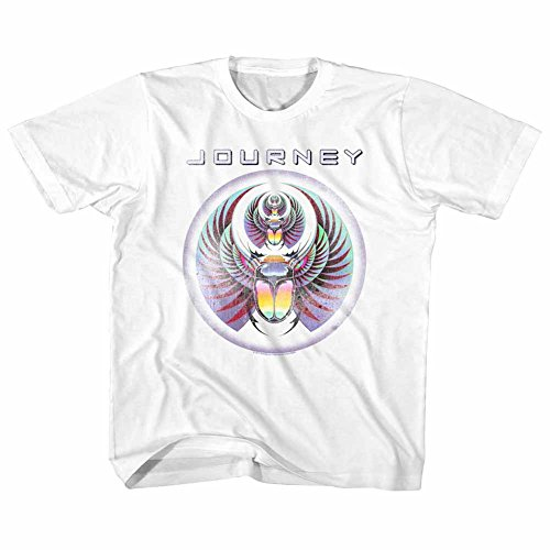 Journey Journey White Youth Big Boys T-Shirt Tee