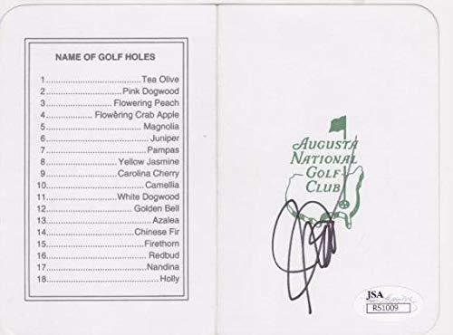 - JOHN DALY Signed Augusta National Scorecard R51009 - JSA Certified - Autographed Golf Scorecards