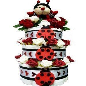 Love Bug Baby Diaper Cake Gift Tower, -