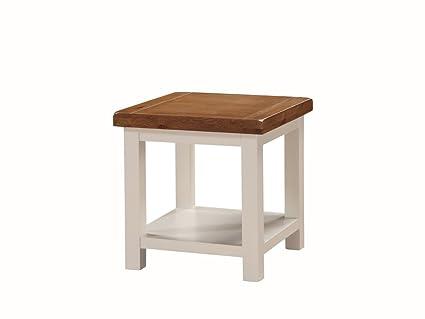 Alba Painted rovere tavolino - Painted lampada da tavolo con ripiano ...
