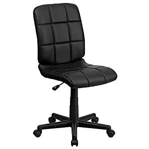 Flash Furniture Mid-Back Quilted Vinyl Swivel Task Chair