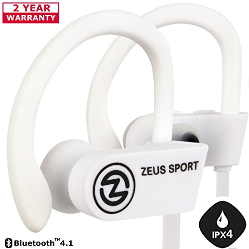 Bluetooth Headphones ZEUS SPORT Wireless Headphones Sweatproof Noise Cancelling Earbuds with Mic Sports Earphones for Running Workout Earbuds with Case, Gift for Men Women Best Friend Gifts