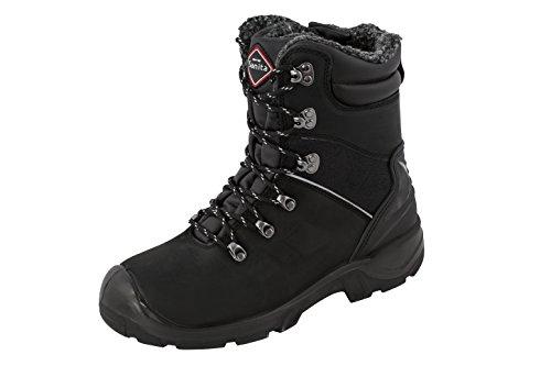 Sanita Canyon stivali di sicurezza in pelle nabuk S3, Nero - Nero, 43 EU