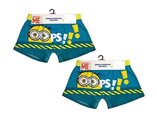 Set of 2 Despicable Me Official Minions Kids Childrens Boxer Short Briefs