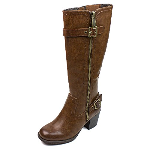 Shaft Dress Boot (White Mountain Women's Dover Harness Boot, Cognac, 9.5 M US)
