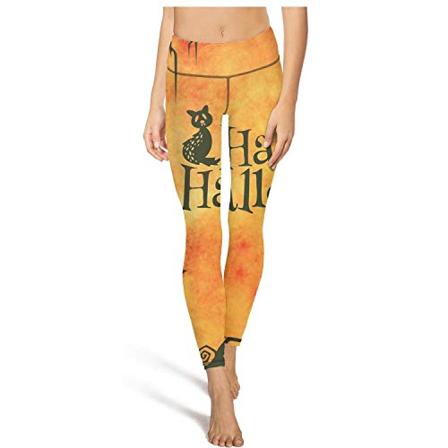juiertj rt Long Camping Happy Halloween Sketch Leggings Pretty Women Breathable Tights Active Yoga Pant ()