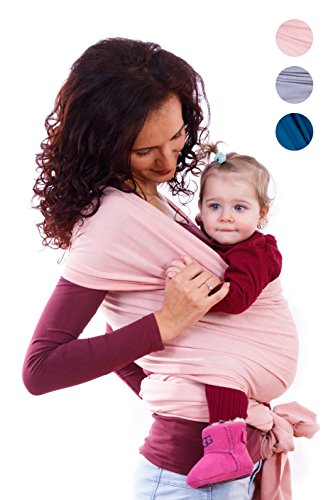 BabyWaybe Wrap Sling Carrier for Infants and Newborn – Perfect Shower Gift – Breatha ...