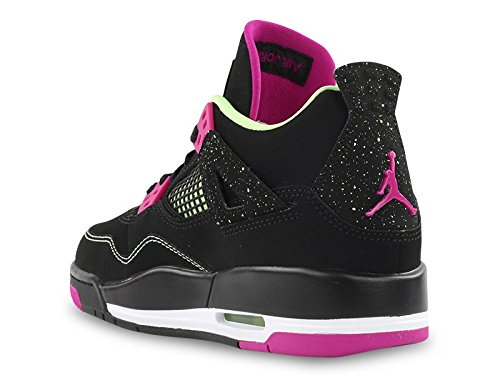 Nike Air Jordan 4 Retro 30th Gg, Zapatillas de Running Para Mujer Negro / Rosa / Blanco (Black / Fuchsia Flash-Lqd Lm-Wht)