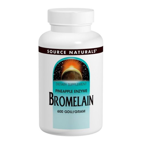Source Naturals Bromelain 500mg Proteolytic Enzyme Supplement - 60 Tablets (Pack of 2) by Source Naturals (Image #1)
