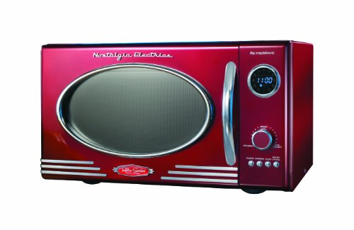 Nostalgia Electrics RMO400RED Retro Series .9 CF Microwave - Kitchen Oven Microwave