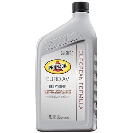 Amazon.com: Pennzoil 550040835 Euro AV SAE 5W-30 Full Synthetic Motor Oil - 1 Quart,: Automotive