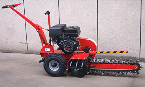 15HP Gas Powered Walk Behind Trencher Digger Tiller Cultivator, 24