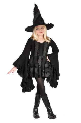 [Stitch Witch Costume - Large] (Classic Black Witch Costumes)