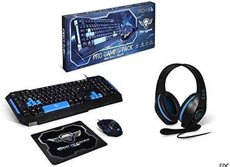 Pack Gamer Teclado + Ratón 2400 DPI escudo SOG retroiluminada, 6 ...