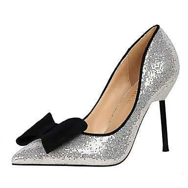Heel FYios Winter Club Fall Comfort Glitter EU36 Sequin Wedding amp; 5 Spring Dress 5 Stiletto Party CN35 Summer Shoes Bowknot UK3 Walking Evening US5 Women'sHeels ZxXqIrZ