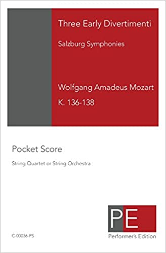 Three Early Divertimenti: Salzburg Symphonies