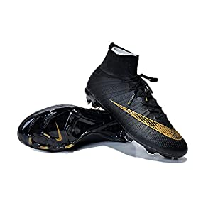 Allenny Shoes Mens Mercurial Superfly FG Black Soccer Football Boots Size US7