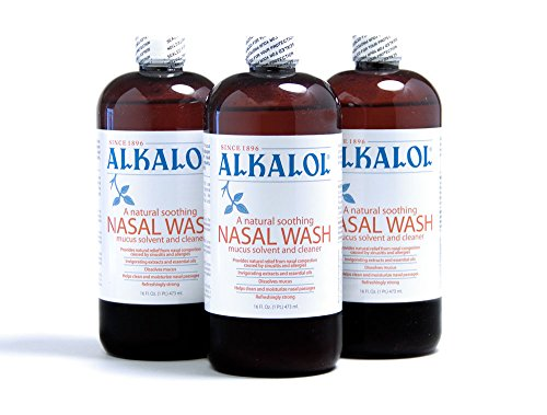 Alkalol Solution Original Nasal Wash, 3 Count -16 fl oz (Nasal Rinse Cup)
