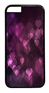ACESR Bokeh Hearts iphone 4 4s Hard Case PC - Black, Back Cover Case for Apple iphone 4 4s( inch)
