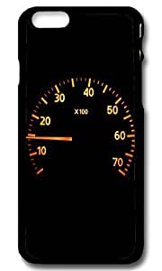 Rugged iPhone 6 Case,Calm Racer Speedometer Custom Case Cover for Apple iPhone 6 4.7inch Polycarbonate Black