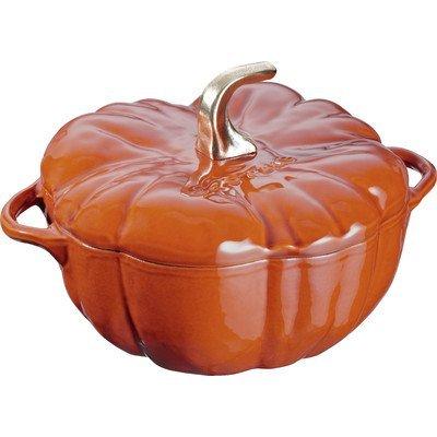 Staub 11124806 Pumpkin Cocotte Oven, 3.5 quart, Burnt Orange/Cinnamon by Staub