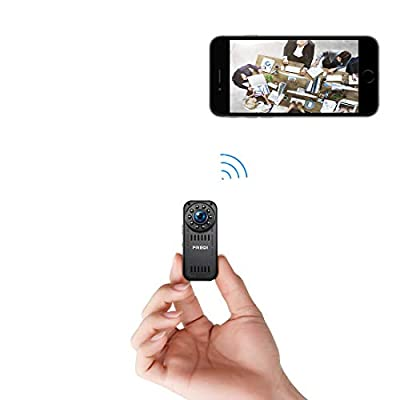 FREDI Hidden Camera 1080p HD Mini WiFi Camera spy Camera Wireless Camera for iPhone/Android Phone/iPad Remote View with Motion Detection from FREDI
