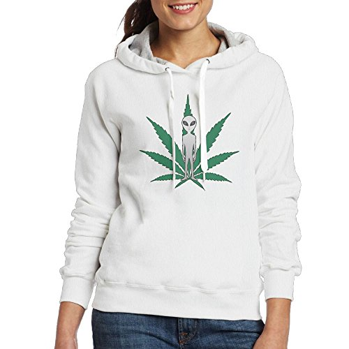 XiaoXX04 Women's Outerwears,Alien Cannabis Leaf Long Sleeve Hoody For Woman