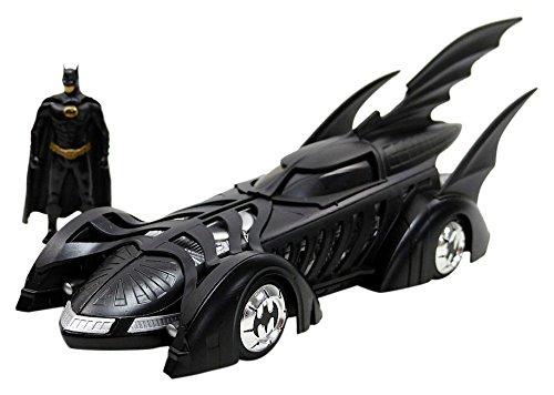 Jada Toys –  Batman Forever con Figurine Batmobile Veicolo in Miniatura, 98036bk, Nero, Scala 1/24