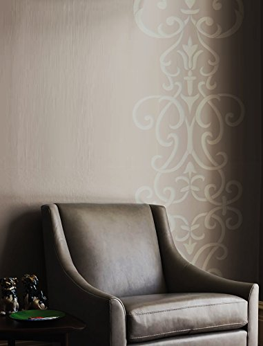 Wall Stencil Damask Scroll Large Allover Pattern Wall Room Decor Made By  OMG Stencils Home Improvements
