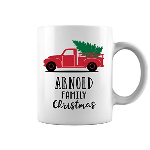 Arnold Ornament - Arnold Family Christmas Truck Ornament Ceramic Coffee Mug Tea Cup (11oz, White)
