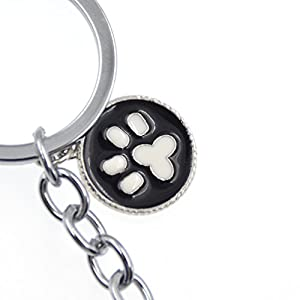 Cute Pet Dog Keychain Alloy Enamel Corgi Husky Poodle Keyring Love Tag Charm 1Pc