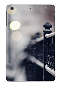 [PDKAtzW2272fNKBO]premium Phone Case For Ipad Mini/mini 2/ Snowy Iron Fence Tpu Case Cover(best Gift Choice)