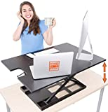 X-Elite Pro XL Standing Desk - Instantly Convert Any Surface to a Stand up Desk! Extra Large Surface Sit to Stand Desk Converter - Easily fits 2 Monitors! (X-Elite XL | 36 inches | Black)