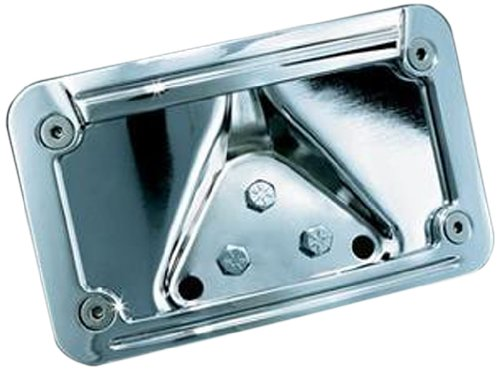 Kuryakyn 3138 Lighted Laydown Curved License Plate Frame and Mount (License Curved Plate Kuryakyn Frame)