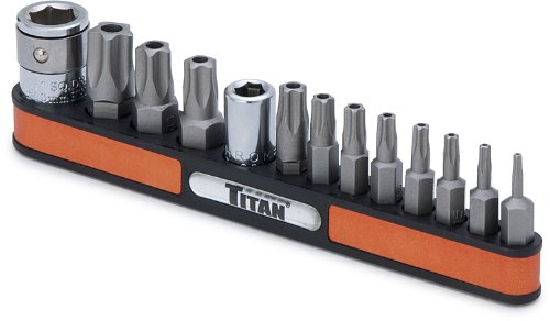- Titan Tools 16137 Tamper Resistant Star Bit Socket Set - 13 Piece