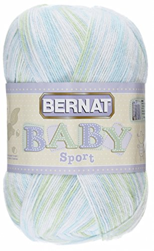 Sport Ombre Yarn (Bernat Baby Sport Big Ball Ombre Yarn - (3) Light Gauge 100% Acrylic - 9.8oz -   Funny Prints  -  Machine Wash & Dry)