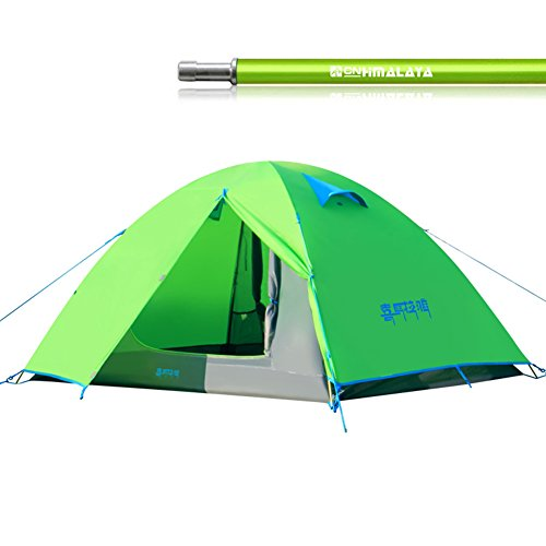 効率細胞法律によりアウトドア キャンプ 2人用 設営簡単 防水通気 二層構造 テント