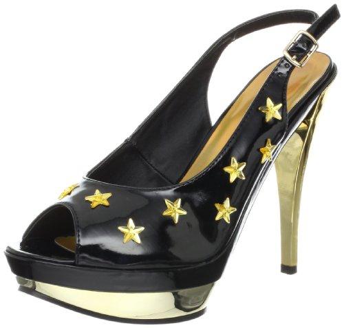 Ellie Shoes Womens Skylar Skylar Black/Gold
