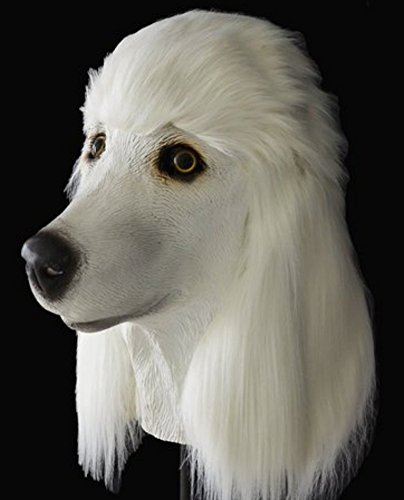 Gmasking Poodle Full Head Dog Mask Party Halloween Costume (Realistic Dog Costumes)