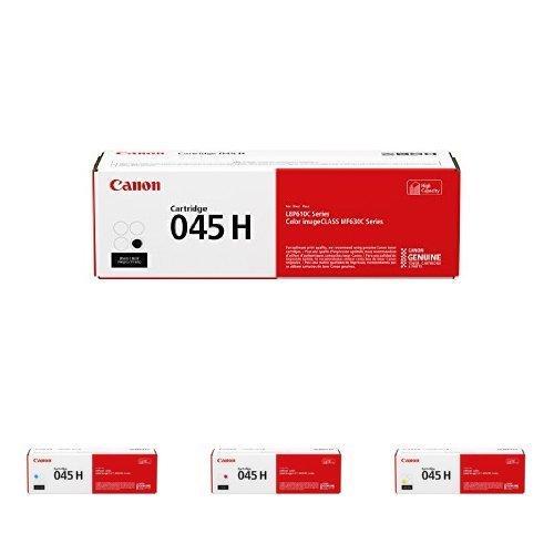 Canon Original 045 Toner Cartridges - High Yield Black, Cyan
