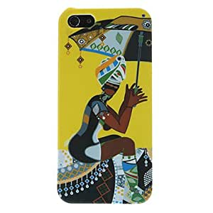 Woman Holding Umbrella Pattern Hard Case for iPhone 5/5S