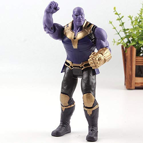 PAPWELL Thanos Action Figure 6.7 inch Hot Toys Marvel Legends Figures Avengers Infinity War Avenger Christmas Collectibles Halloween Small Superhero Antihero Toy Collectable Gift Collectible for Kids