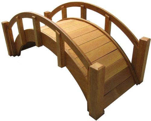 SamsGazebos Miniature Japanese Wood Garden Bridge, 25