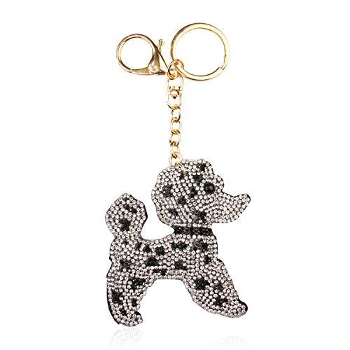 Sports Keychain - College Team Game Day Key Charm Sparkly Crystal Rhinestone Football/Soccer/Softball/Baseball/Basketball (Dog)