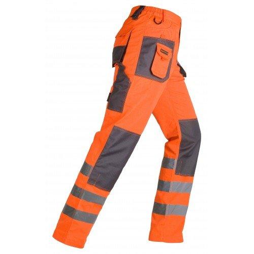 Pantalón de trabajo de alta visibilidad Smart HV naranja. KAPRIOL
