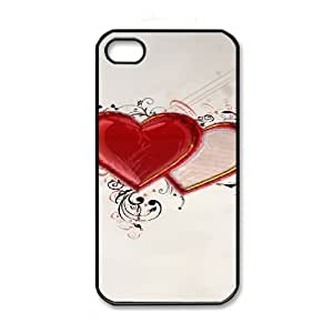 iPhone 4 4s Black Cell Phone Case HUBYLW3535 Heart Pattern Phone Case Cover Customized DIY
