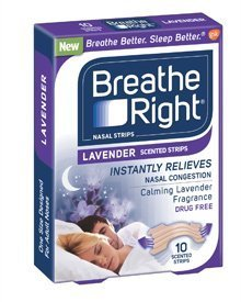 Breathe Right, Nasal Strips, Lavender -10 Count by Breathe Right