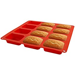 Zenware 12 Cup Non-Stick Silicone Baking Mold for Cake, Bread and Brownies