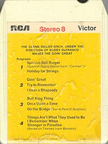 GLENN MILLER ORCHESTRA cond. Buddy DeFranco: Makes the Goin' Great -15142 8 Track - Defranco Buddy